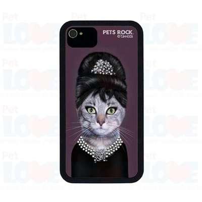Capa Plast Catbreakfast Pets Rock para Iphone 4 e 4S