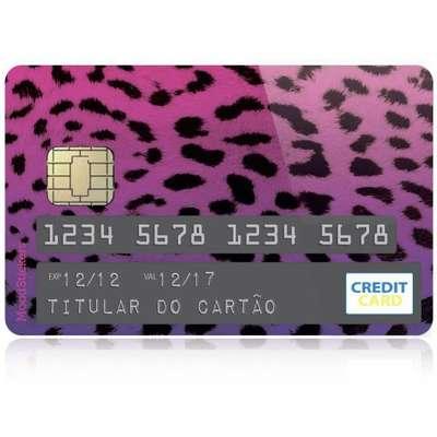 Adesivo Sticker para Customizar Cartão de Crédito - Onça Color