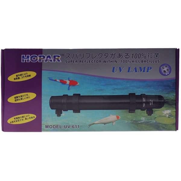 Filtro Hopar com Ultra Violeta UV - 611 de 24W e 1000 Litros / hora - 611 de 24W e 1000 Litros / hora - 110V