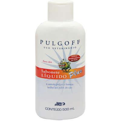 Sabonete Líquido Plus Controle de Pulgas Mundo Animal Pulgoff para Cães e Gatos