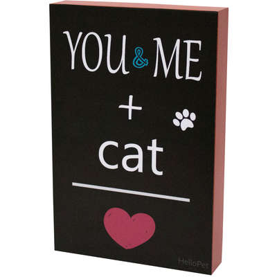Quadro Hello Pet You And Me Cat